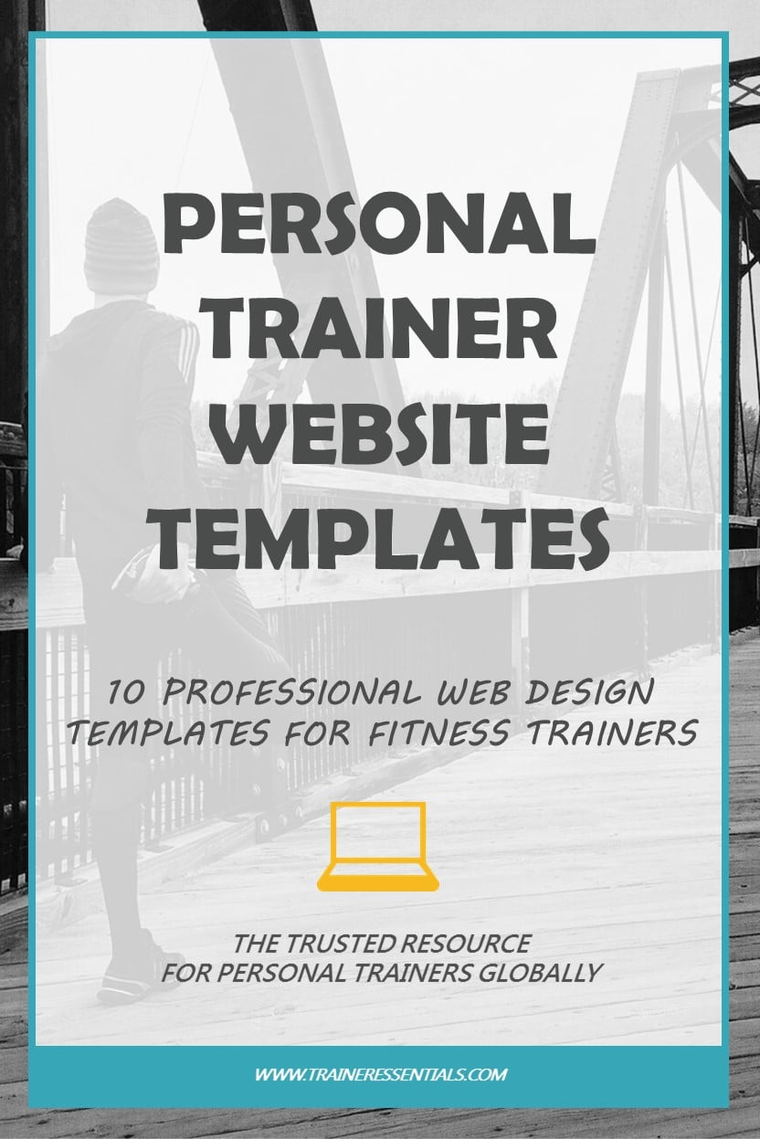personal trainer website design  10 professional templates