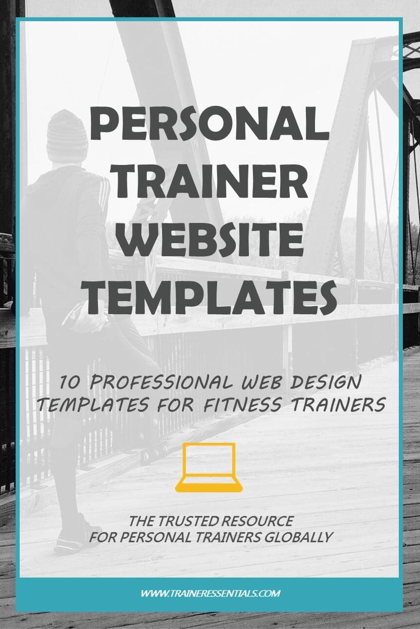 personal trainer website design 10 professional templates