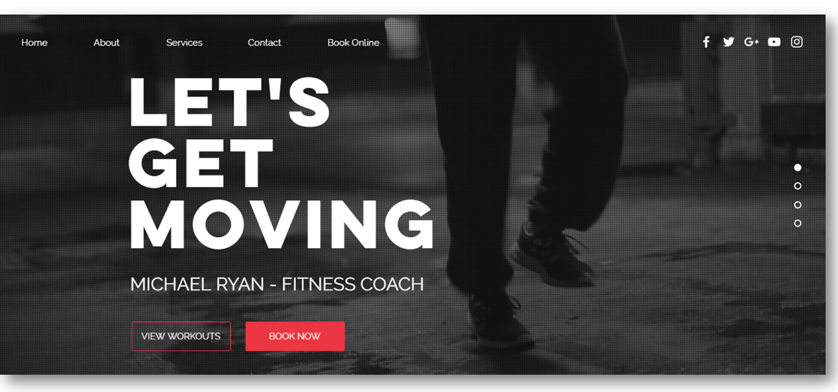 Personal Trainer Website Template Wix2