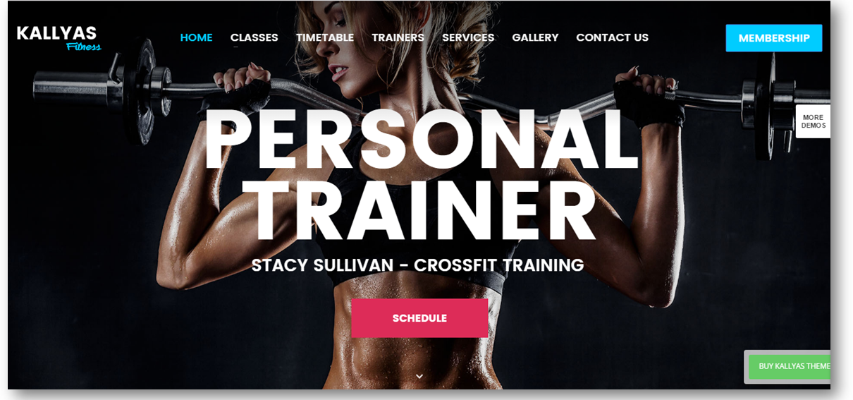 Personal Trainer Website Template Multi