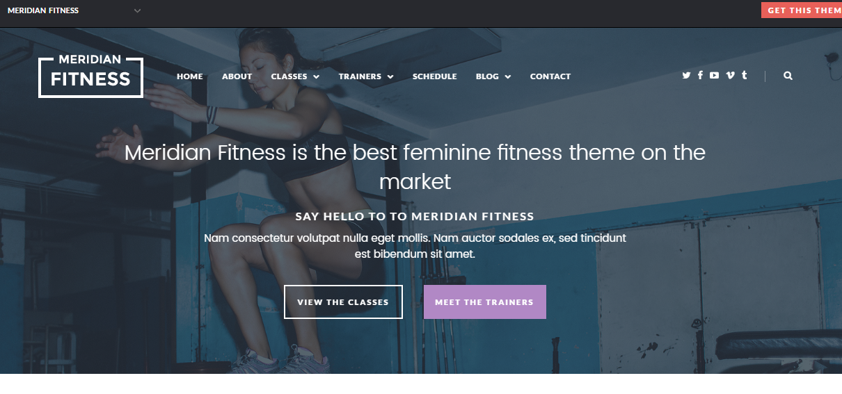 Personal Trainer Website Template Black