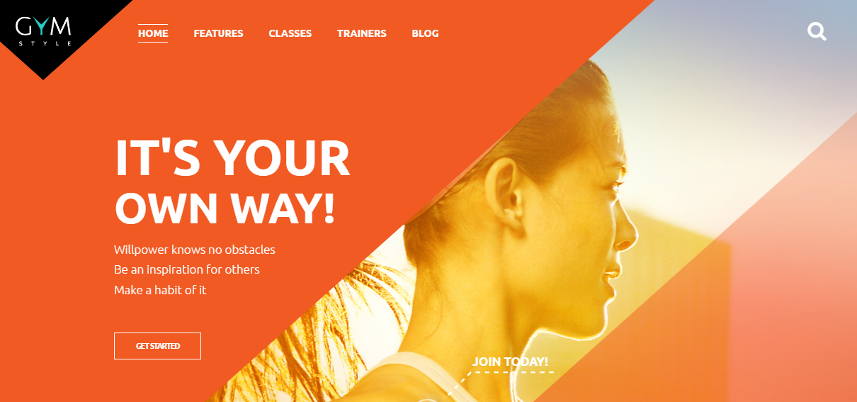 Personal Trainer Website Template Orange
