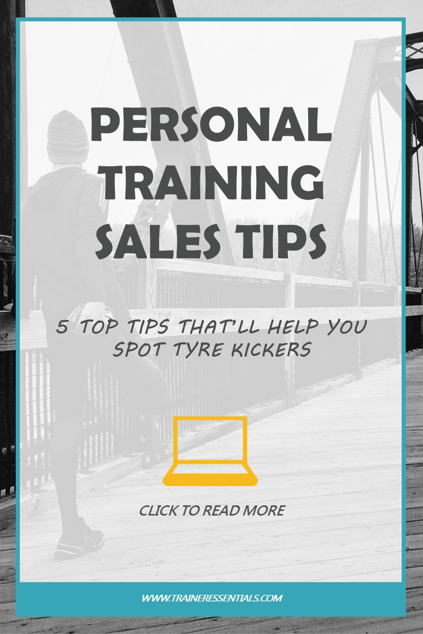 Personal Training Sales Tips Pinterest