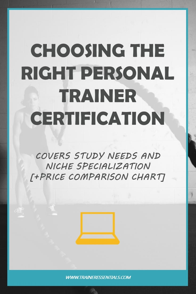 Best Personal Trainer Certification Price Comparison Chart