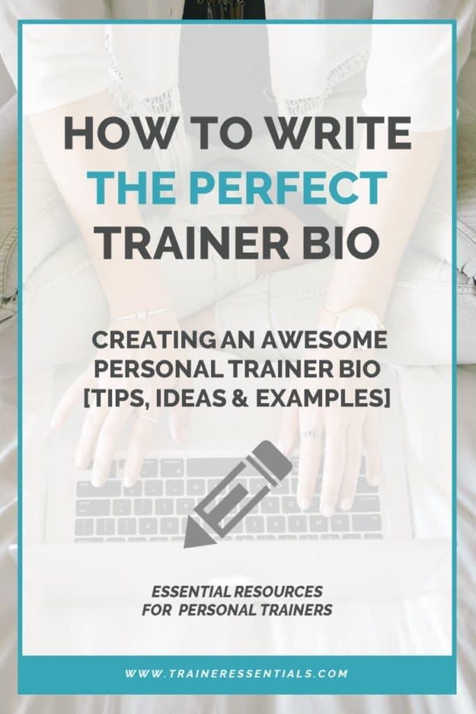 Personal Trainer Bio Pinterest