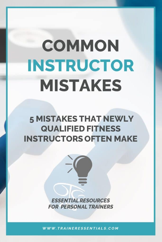 Common Instructor Mistakes Pinterest