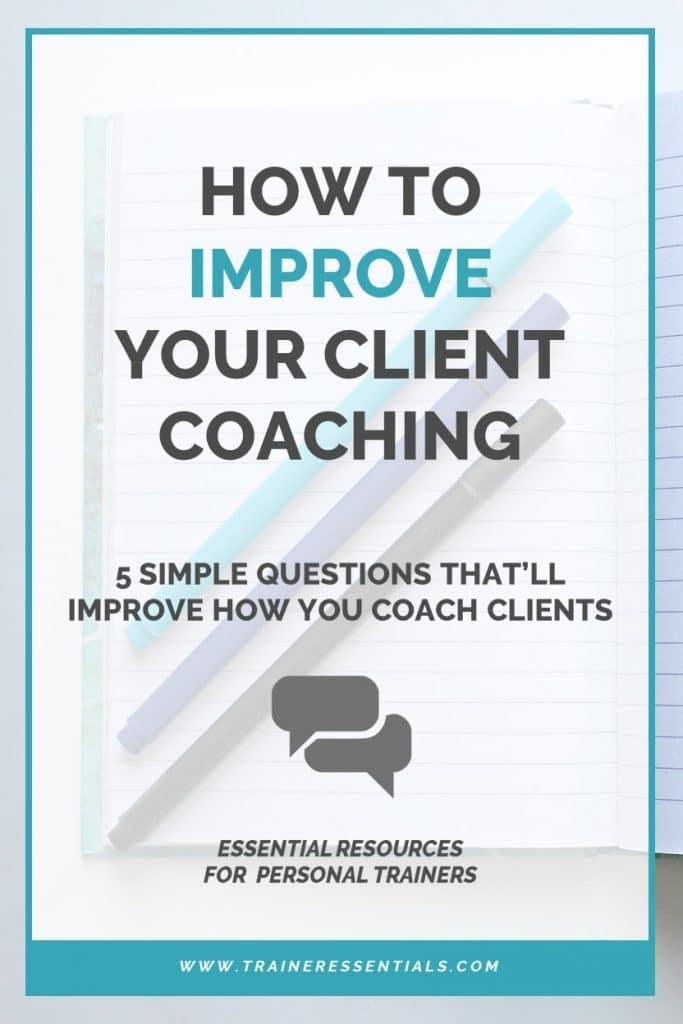 Personal Trainer Client Questions Pinterest