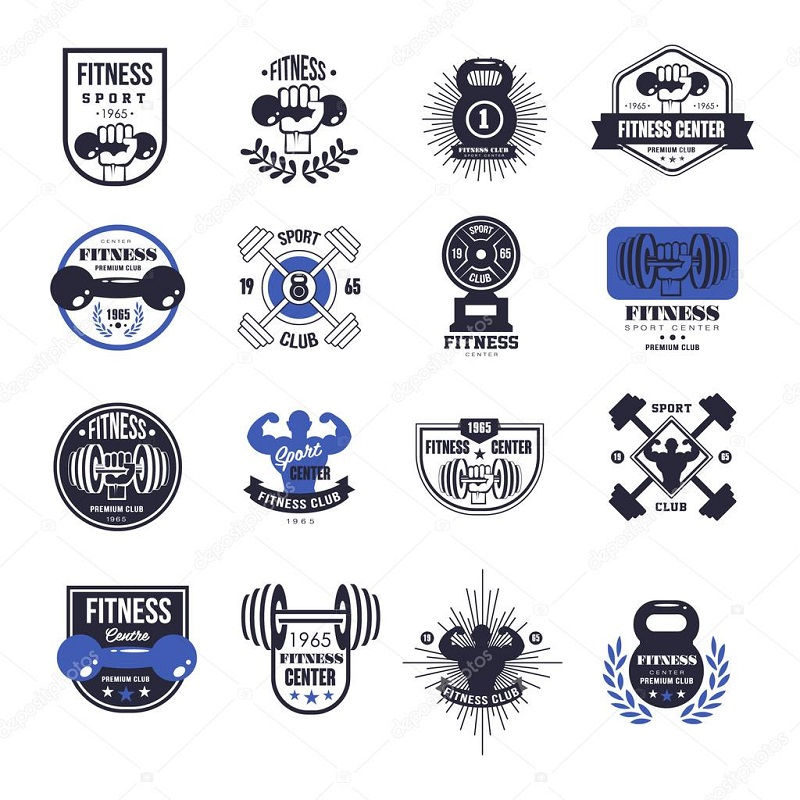 Blue Personal Trainer Logo Designs