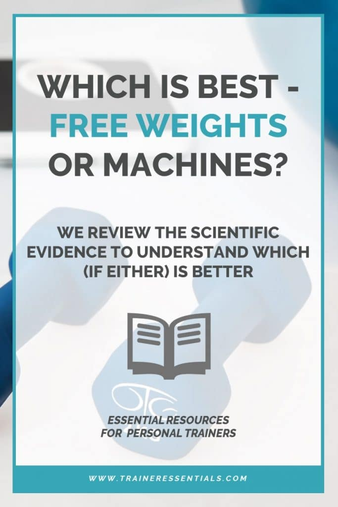 Free Weights Or Machines Pinterest