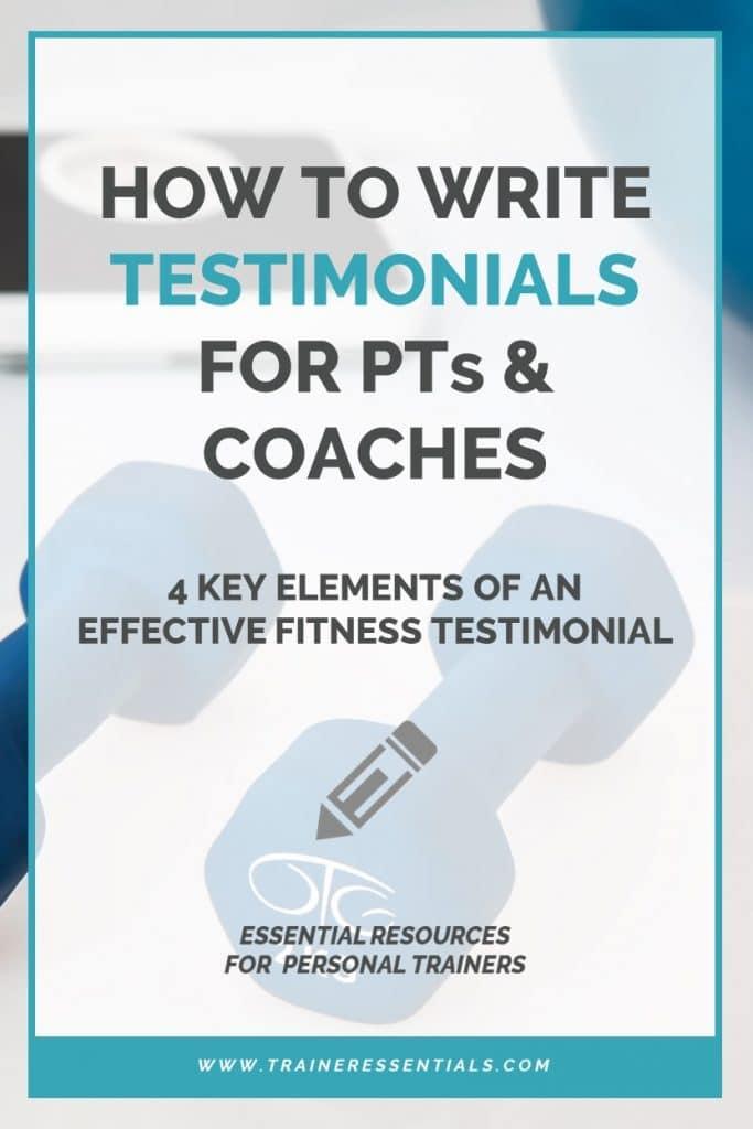 Fitness Trainer Testimonials